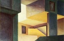 1976-La condition humaine, olieverf, 60x80 cm