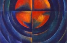 1988-Doorbraak, olieverf, 50x60 cm - 1988