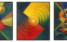 1989-Drieluik 'Omkering', olieverf, 3 x 60x70 cm