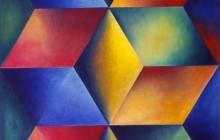 1991-Alter ego, olieverf, 65x85 cm