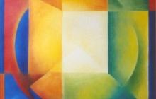 1992-Verdwijnpunt als middelpunt, olieverf, 70x80 cm