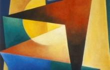 1993-Verstoord ritme, olieverf, 60x70 cm