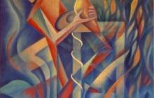 1997-Op vleugels, olieverf, 65x75 cm