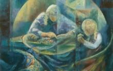 2001-Oog van de naald, olieverf, 80x100 cm