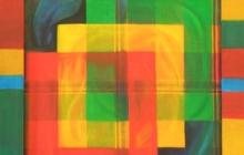 2002-Organisatieschema 1, olieverf, 45x45 cm