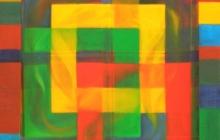 2002-Organisatieschema 2, olieverf, 45x45 cm