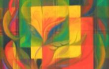 2002-Organisatieschema 3, olieverf, 50x50 cm