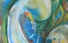 2003-Embryo, aquarelpastel, 40x50 cm