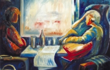2003-Onderweg, olieverf, 70x100 cm
