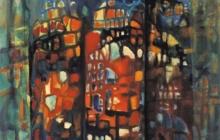 2003-Stad bij nacht, olieverf, 50x60 cm
