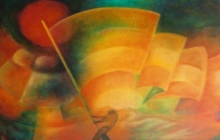 2004-Celebration, olieverf op doek, 60x80 cm