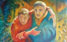 2004-De weerlozen, olieverf, 50x60 cm