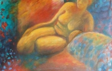 2004-Naakt, olieverf, 50x60 cm