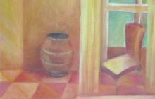 2005-Keukendoekjes, deel 2, olieverf op doek, 30x30 cm