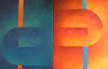 2006-Tegen delen, olieverf, 70x100 cm