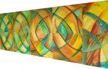 2007-Kuub aan de wand, aquarelpastel, 1m