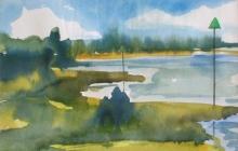 2008-IJssel 2, aquarel, 40x50 cm