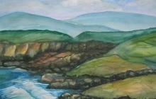 2008-Ierse kust 2, aquarel, 70x90 cm
