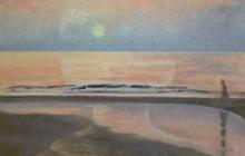 2008-Langs de rand, olieverf op doek, 50x60 cm