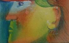 2009-Coy boy, aquarelpastel, 24x30 cm