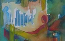 2009-Streetwise, aquarelpastel, 24x30 cm