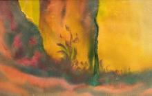 2010-Boomstronk 2, aquarelpastel, 60x80 cm