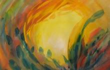 2010-Rond, aquarelpastel, 60x80 cm