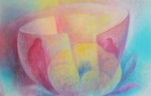 2011-Compassiebloem, olieverf op doek, 80 bij 100 cm