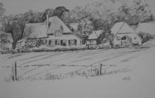 2012-Boerderij bij Diepenveen, gewassen inkt