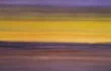 2015-Randschap in paars en geel, aquarel, 80x60 cm