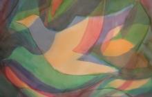 2015-Vliegrichting, aquarel 60 bij 80 cm
