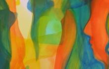 2016-Afscheid, aquarel, 70x50 cm