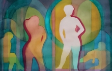 2018-Dialoog, aquarel, 80 bij 60 cm