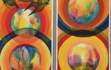 2020 Cirkels en bubbels, 225 bij 2x50 cm