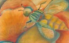 2008-Bezige bij, aquarelpastel,