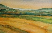 2004-Fantasie landschap 3, aquarel, 30x40 cm