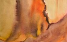 2006-Boomstronk, aquarel, 60x80 cm