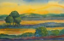 2007-IJsselfantasie, aquarel, 50x70 cm