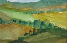 2008-Landschap bij Trier, aquarel, 40x50 cm