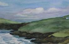 2009-Ierse kust, aquarel, 30x60 cm