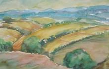 2011-Landschap in de Morvan, 50 bij 70 cm