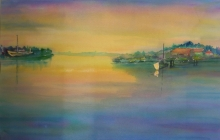 2012-Avondlucht, aquarel, 50 bij 70 cm