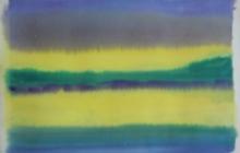 2014-Horizon-taal 2, aquarel, 40x50 cm