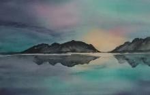 2018-Noorwegen, aquarel 30 bij 40 cm