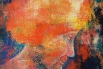 1998-Glimlach, olieverf, 40x50 cm