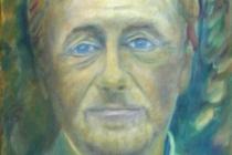 2009-Portret van een dichter, olieverf, 30x40 cm