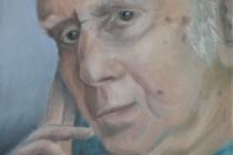 2009-Portret van een dichter, olieverf op doek, 30x40 cm