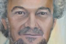 2009-Portret van een schilder, olieverf op doek, 30x40 cm