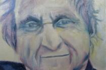2009-Portret van een schrijver, olieverf op doek, 30x40 cm