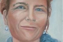 2009-Portret van een sopraan, olieverf op doek, 30x40 cm